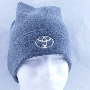 Toyota Winter Beanie Hat Custom Rare Gray Gold